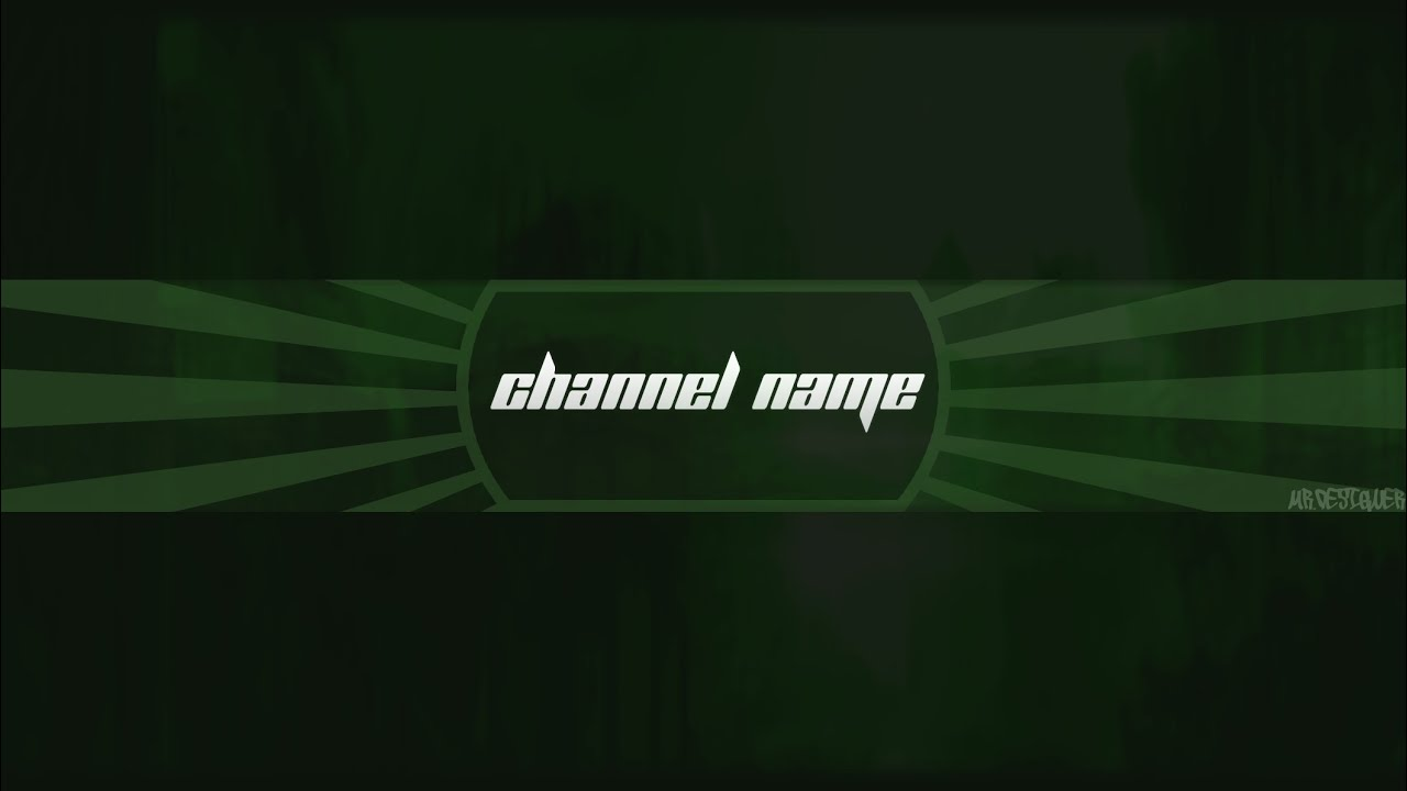 Photoshop Cool Channel Art Banner Template Download Psd