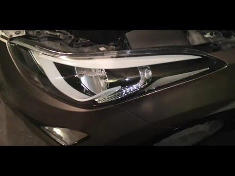 Замена лампочки ближнего света. Elantra\Avante. Replacing The Low-beam Bulb