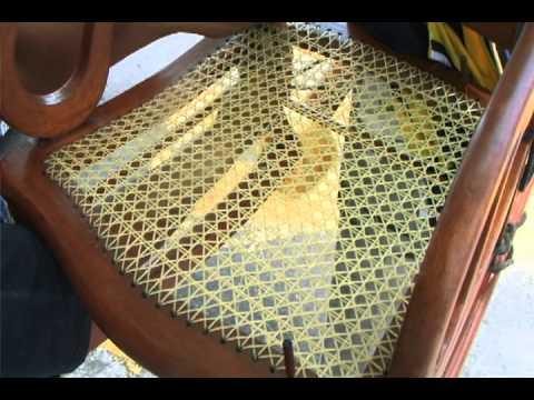 Tejido de muebles en ojo de perdiz martin c rdoba youtube - Tejidos para tapizar sillas ...