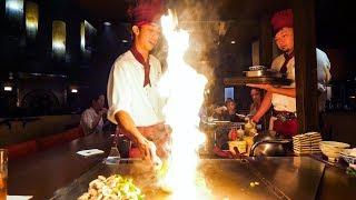 Download Teppanyaki LOBSTER & STEAK - Amazing Knife Skills and Fire Cooking in Waikiki, Hawaii! Mp3 and Videos