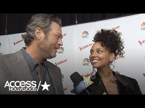 'The Voice': Blake Shelton & Alicia Keys Hilariously Joke About Adam Levine's Blond Hair