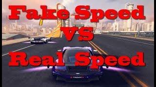 Asphalt 8, FAQ-ты ! Fake Speed vs Real Speed. Реальные и фейковые скорости.