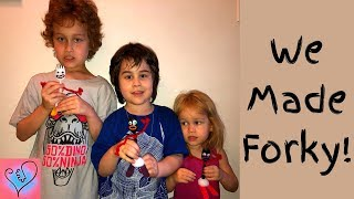 DIY Toy Story 4 Forky -- Autism Homeschool Craft Project