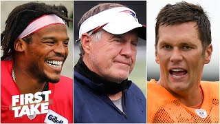 Stephen A. wonders why Bill Belichick didn't compliment Tom Brady like Cam Newton | First Take