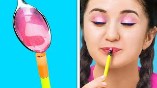 HOW TO SNEAK MAKEUP INTO CLASS  Cool School Tricks And Funny Situations You&#39ll Be Grateful For