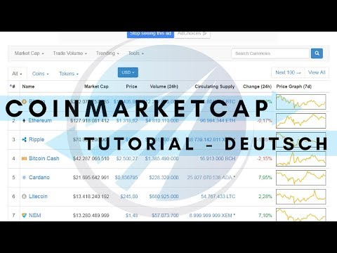 Coinmarketcap.com - Tutorial Deutsch