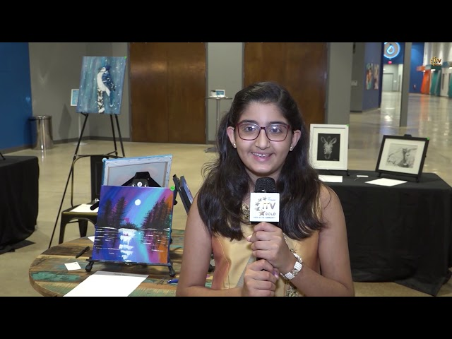 "Young South Asian Riya Dadheech Presents ""Purple Paint Art Exhibit"" Fundraiser - Parsippany"