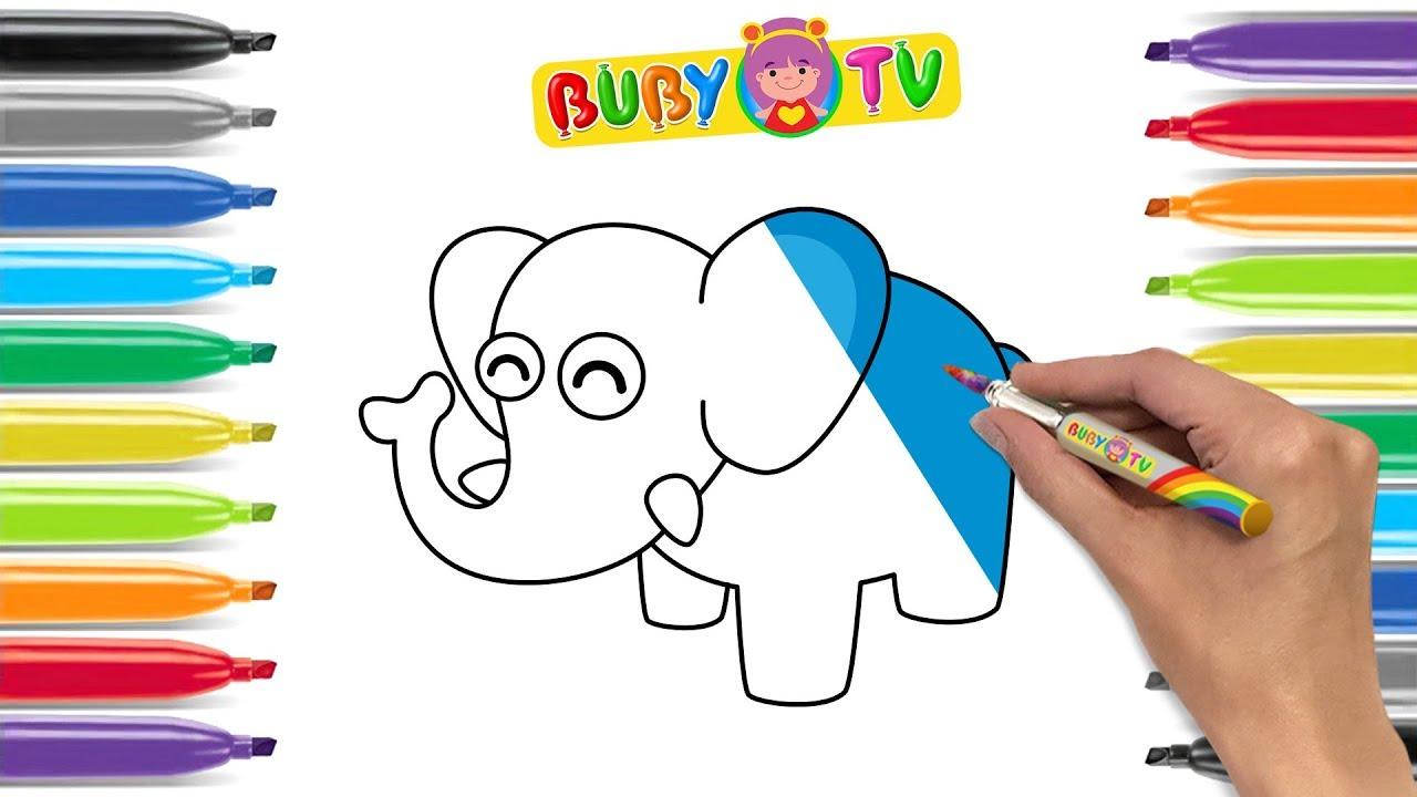 Impara A Disegnare Un Elefante Disegni Facili Animali Per