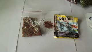 Сухой корм для аквариумных рыбок.