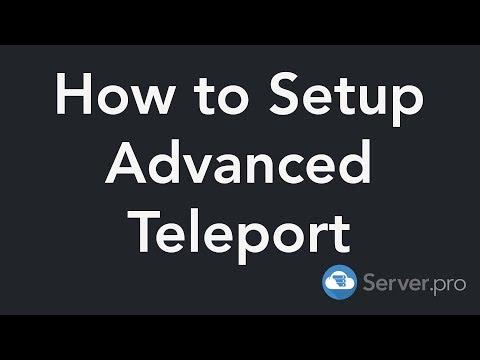 How To Setup The Advanced Teleport Plugin - Minecraft Java