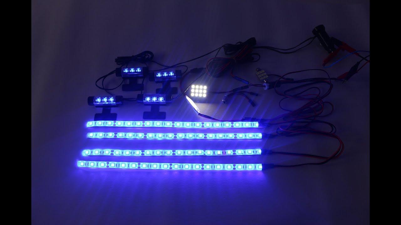 Подсветка салона авто, сравнение наборов