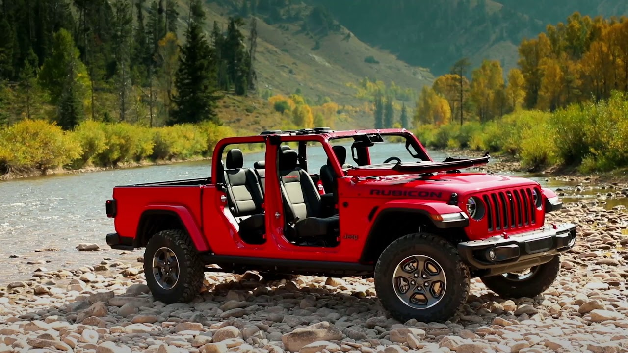 2020 Jeep Gladiator Rubicon running footage - YouTube