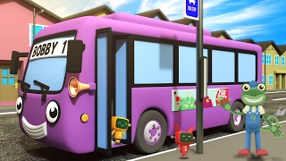Wheels On The Bus With Bobby The Bus | Gecko