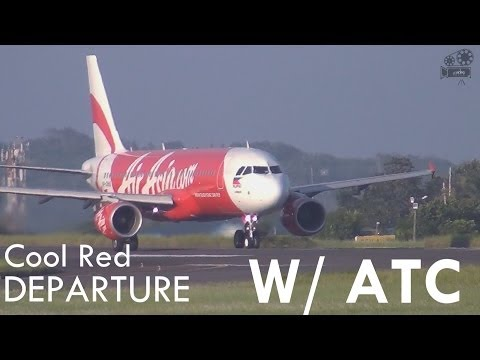 Cool Red Departure w/ ATC Comms! : Davao International Airport