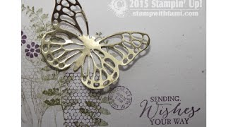 Intricate Framelit Die Cutting Made Easy Technique Featuring Stampin Up Butterflies