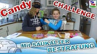 CANDY CHALLENGE mit SAUKALTER Bestrafung | Süßigkeiten Challenge | TipTapTube