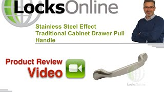 Stainless Steel Effect Traditional Cabinet Drawer Pull Handle   Locksonline Product Reviews