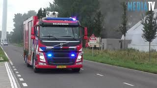 Grote brand bij compostbedrijf Elbeweg Rotterdam Europoort