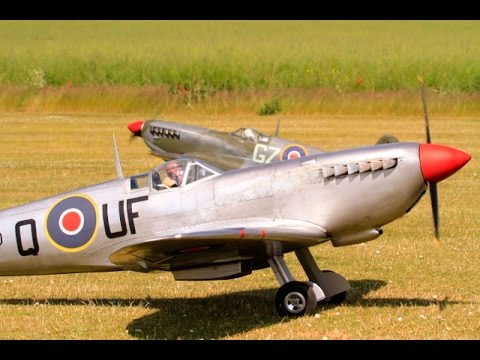 """FOUR 1/4 SCALE RC WW2 FIGHTER WARBIRDS """"LEGENDS FIGHTER GROUP"""" AT NLMFC - 2015"""