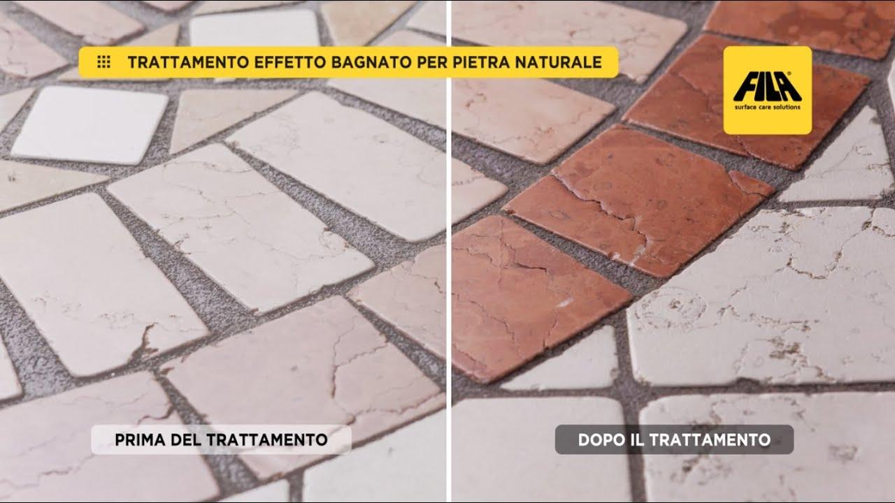 Kaol 4 Puli Fughe come ravvivare il colore della pietra | effetto bagnato con filawet