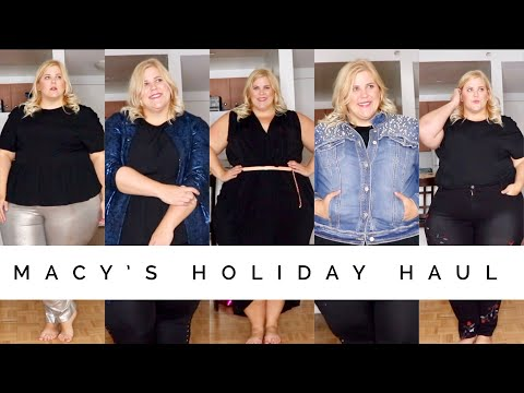 Macy's Plus Size Haul- Jackets, Sweaters, Pants and More!