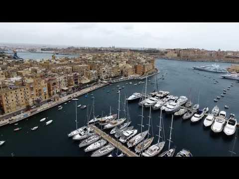 Drone Over Malta - Valletta