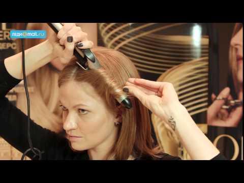 Стильные прически для волос средней длины с челкой