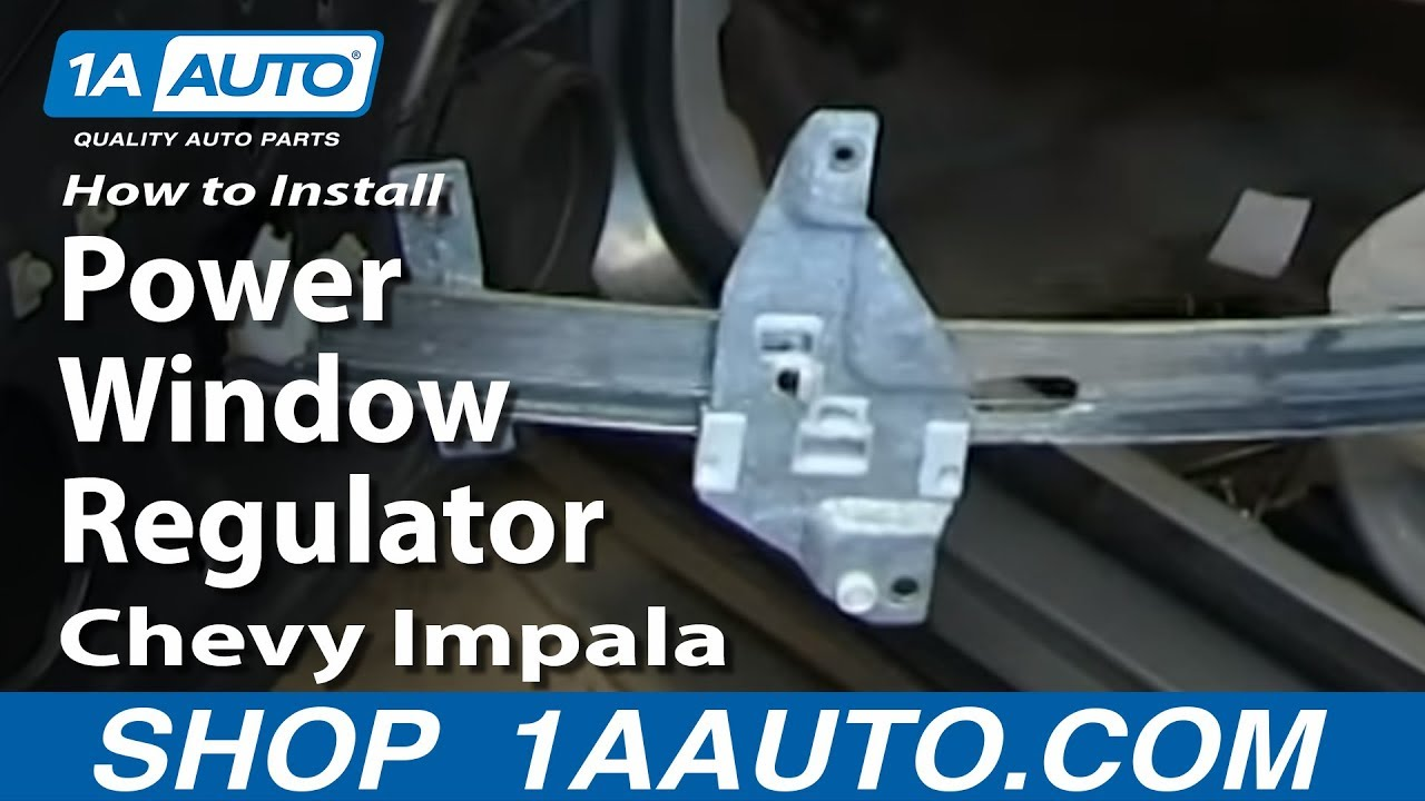 auto door parts diagram 1998 chevy s10 headlight wiring how to install replace power window regulator 2006-12 impala - youtube