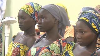 Buhari welcomes 82 Chibok girls to Abuja