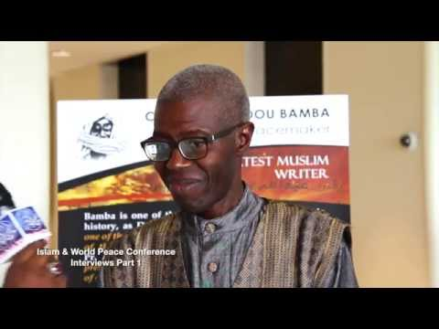 Pr. Souleymane Bachir Diagne at the World Peace Conference at Columbia University