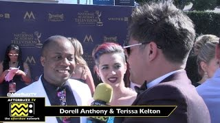 Dorell Anthony & Terissa Kelton at the Daytime Emmy Awards 2017