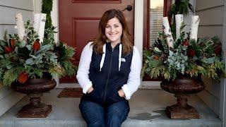 Christmas Urns for My Front Door