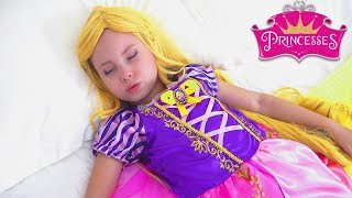 Alice as Rapunzel plays with her Friends Princesses - the best stories for kids