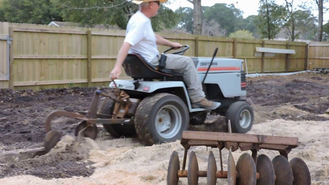 Sears Craftsman Lawn Tractor Attachments : My craftsman garden tractor attachments youtube