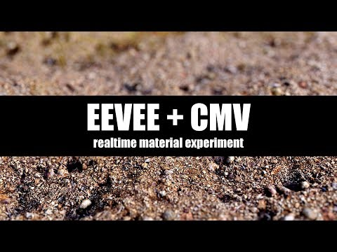Eevee + CMV Realtime Material Experiment