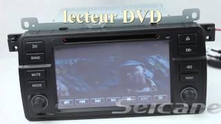 BMW 3 Series E46 android Ecran Tactile stéréo GPS DVD USB SD Ipod 3G Wifi