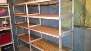 Quick, easy, cheap storage shelves