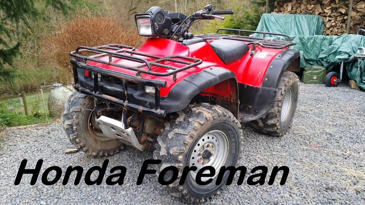 The new project! Honda foreman 450 atv first look cold start