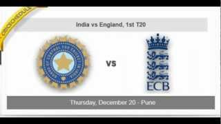 England tour of India 2012 Schedule and Fixtures