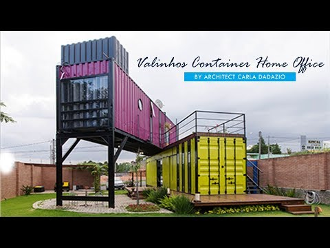 Container Home Office by Carla Dadazio in Valinhos, Brazil