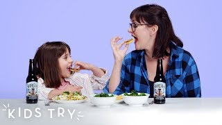 Kids Try Their Mom's Pregnancy Cravings (Round 3) | Kids Try | HiHo Kids