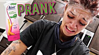"""""""EYEBROW REMOVAL PRANK"""" ON WIFE GETS VERY EMOTIONAL 