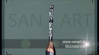 pencil carving art, love couple miniature sculpture on pencil lead