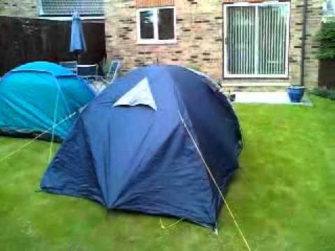 tesco 2 person dome tent vs halfords malvern 3 tent. & tesco 2 person dome tent vs halfords malvern 3 tent. - YouTube