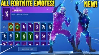 *NEW* GALAXY SKIN SHOWCASE WITH ALL FORTNITE DANCES & EMOTES! (Android Samsung Galaxy Exclusive?)