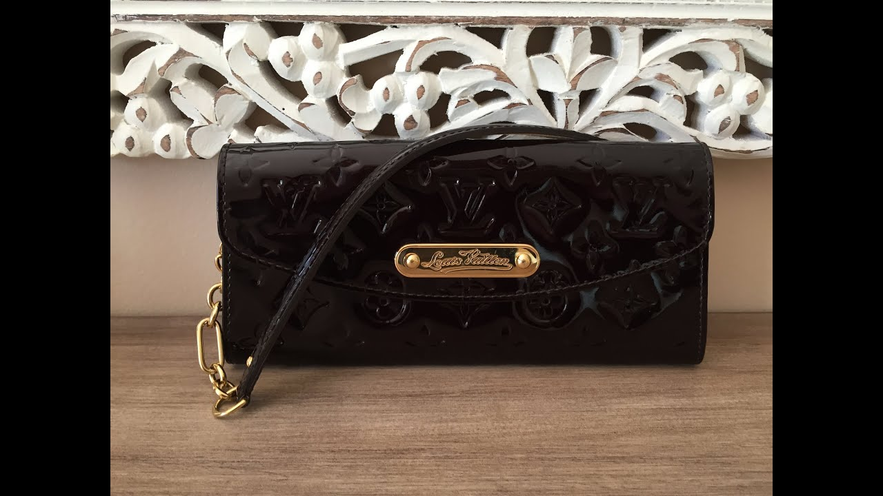 1542b8fc3acfb Louis Vuitton Sunset Boulevard in Amarante Vernis - WOC style clutch ...