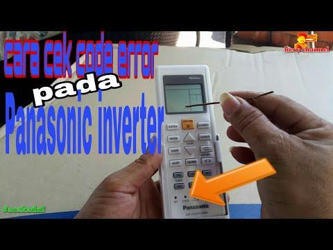 Cara Cek Code Error Ac Panasonic Inverter Pakai Remote Control||cek Deskripsi