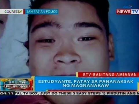 BP: Estudyante, patay sa pananaksak ng magnanakaw