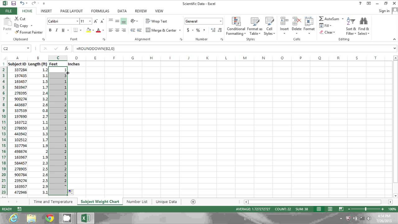 How to convert decimals feet  inches in excel ms tips also rh youtube