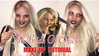 How TO: Bride of Chucky-Tiffany Halloween Makeup Tutorial| kadreanna shakay 2018